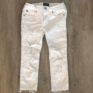 Hudson Jeans white distressed jeans!